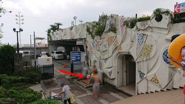 熱海サンビーチ駐車場入り口の水道