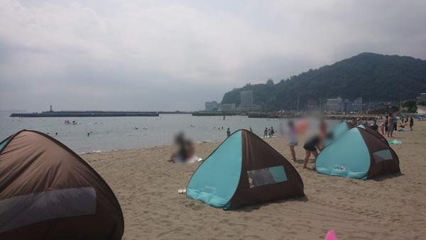 熱海サンビーチ テントのレンタル